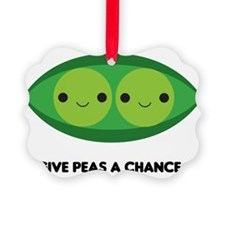 Give Peas a Chance Ornament