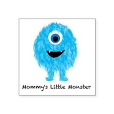 """Mommys Monster Blue Square Sticker 3"""" x 3"""""""