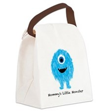 Mommys Monster Blue Canvas Lunch Bag