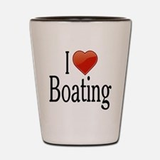I Love Boating Shot Glass