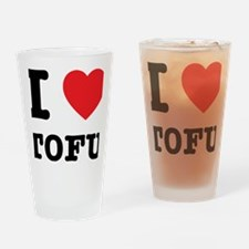 I Heart Tofu Drinking Glass