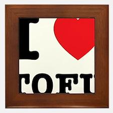 I Heart Tofu Framed Tile