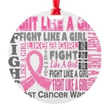 D Fight Like a Girl 44.4 Breast Can Ornament
