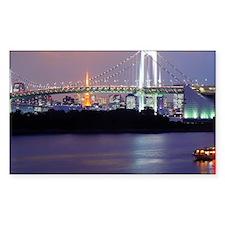 Rainbow bridge in Tokyo Decal