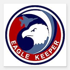 "F-15 Eagle Keeper Square Car Magnet 3"" x 3"""