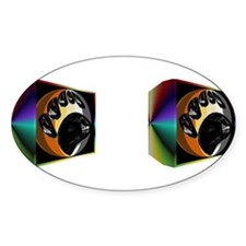 BEAR PRIDE IN PRISM _2-images- Oval Decal
