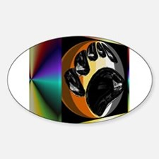 BEAR PRIDE IN PRISM BOX Oval Decal