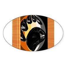 BEAR PRIDE IN WOOD BOX Oval Decal