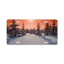 Cold red sky Aluminum License Plate