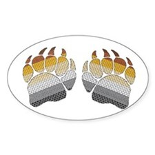 1 SET BEARS PRIDE PAWS Oval Decal