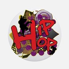 HIP HOP YO Round Ornament