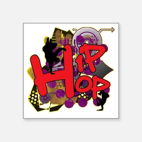 """HIP HOP YO Square Sticker 3"""" x 3"""""""