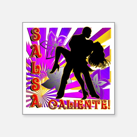 "SALSA CALIENTE! Square Sticker 3"" x 3"""