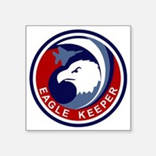 "F-15 Eagle Keeper Square Sticker 3"" x 3"""