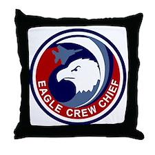 F-15 Eagle Crew Chief Throw Pillow