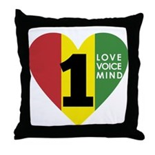 NEW-One-Love-voice-mind7 Throw Pillow