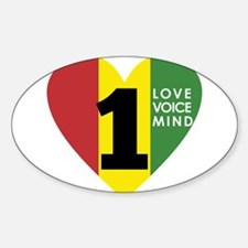 NEW-One-Love-voice-mind7 Decal