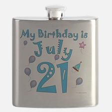 July 21st Birthday Flask
