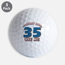 Funny 35 year old birthday Golf Ball