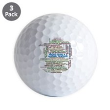 Proud History Teacher Golf Ball