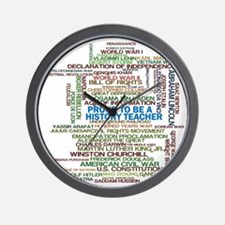 Proud History Teacher Wall Clock