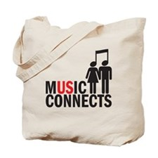 music connects Tote Bag