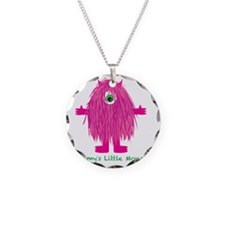 Mommys Little Pink Monster Necklace