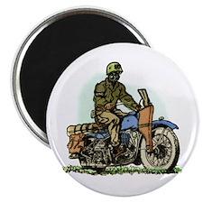 Retro Biker Magnet