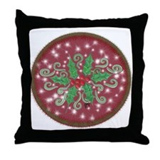 Sparkly Holly Throw Pillow