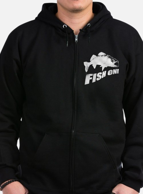 Walleye fish on Zip Hoodie