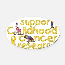Support Childhood Cancer Research Oval Car Magnet
