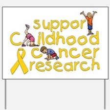 Support Childhood Cancer Research Yard Sign