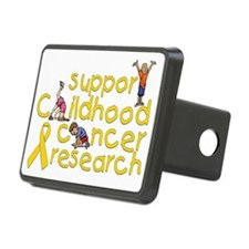 Support Childhood Cancer R Rectangular Hitch Cover
