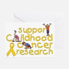 Support Childhood Cancer Research Greeting Card