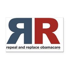 Repeal And Replace Obamacare Rectangle Car Magnet