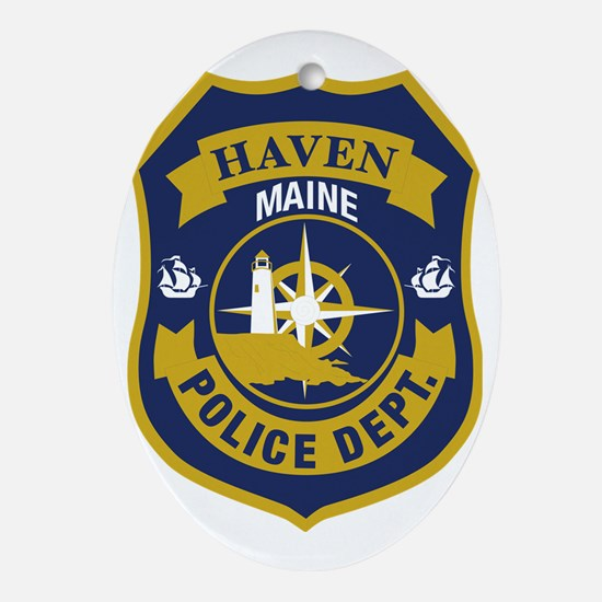 Haved PD logo Oval Ornament