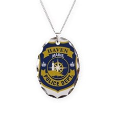 Haved PD logo Necklace Oval Charm