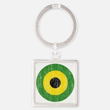 Jamaica Roundel Aged Square Keychain