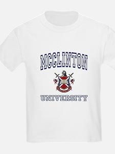 MCCLINTON University Kids T-Shirt