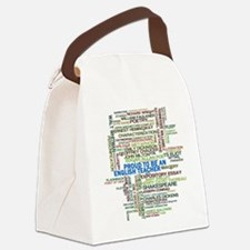 Proud English Teacher Canvas Lunch Bag