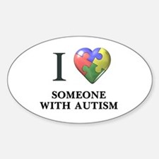 Heart Autism Oval Decal