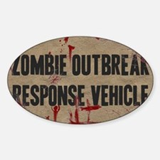 Zombie Outbreak Response Vehicle Sticker (Oval)