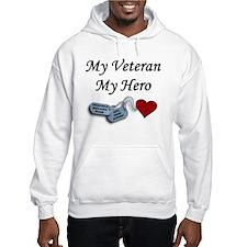 My Veteran My Hero Dog Tags Hoodie