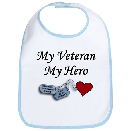 My Veteran My Hero Dog Tags Bib