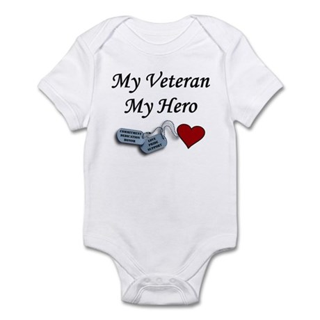 My Veteran My Hero Dog Tags Infant Bodysuit