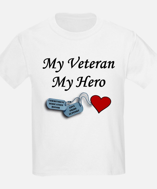 My Veteran My Hero Dog Tags Kids T-Shirt