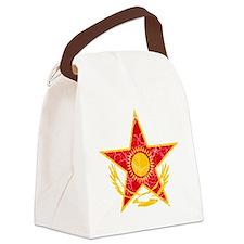 Kazakhstan Roundel Cracked Canvas Lunch Bag