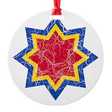 Modova 2 Roundel Cracked Ornament