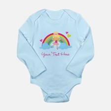 Personalized Ballerina Girl rainbow Body Suit
