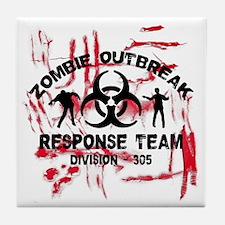 Zombie Response Team Tile Coaster